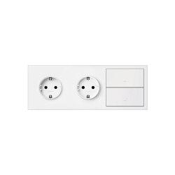 Simon 100   Kit Double Socket + Double Switch   Push-button switches   Simon