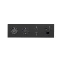 Simon 100 | Kit Double Socket + HDMI + USB + R-TV-SAT + RJ45 | Schuko sockets | Simon