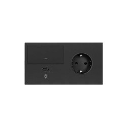 Simon 100 | Kit Switch Dimmer + USB Charger + Socket Schuko | Push-button switches | Simon