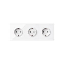 Simon 100 | Kit Three Socket Schuko | Schuko sockets | Simon