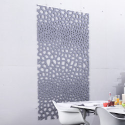 recycled greenPET | designed acoustic divider air voronoi | Sound absorbing objects | SPÄH designed acoustic