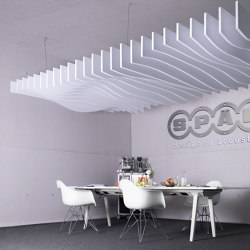 recycled greenPET | designed acoustic baffle greenPET | Sound absorbing ceiling systems | SPÄH designed acoustic
