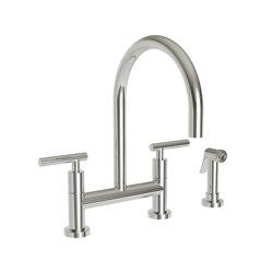East Linear bridge faucet-lever handles | Wash basin taps | Newport Brass