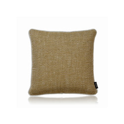 Crochet Frame mustard |40x40| | Kissen | Manufaktur Kissenliebe