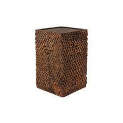 Tallado Wooden Cube Table   Mesas auxiliares   Pfeifer Studio
