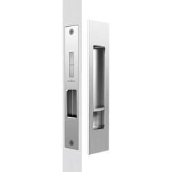 Mardeco Flush Pull Privacy Set Polished Chrome | Flush pull handles | Mardeco International Ltd.