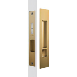 Mardeco Flush Pull Privacy Set Satin Brass | Flush pull handles | Mardeco International Ltd.