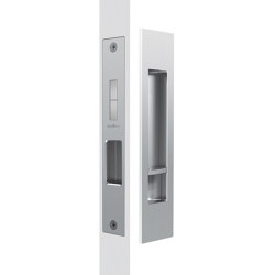 Mardeco Flush Pull Privacy Set Satin Chrome | Flush pull handles | Mardeco International Ltd.