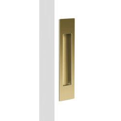 Mardeco Flush Pull Satin Brass | Uñeros para puertas correderas | Mardeco International Ltd.