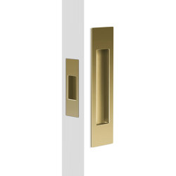 Mardeco Flush Pull Set Satin Brass | Flush pull handles | Mardeco International Ltd.