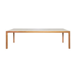 Illum teak dining table with ceramic top | Dining tables | Tribù