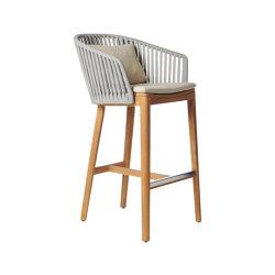 Mood Bar Chair | Teak | Taburetes de bar | Tribù