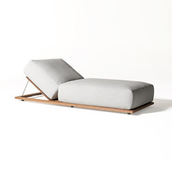Claud Open Air lounge bed | Tagesliegen / Lounger | Meridiani