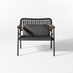 Zoe Wood Open Air armchair | Armchairs | Meridiani