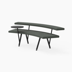 Autobahn, 45˚ Curved seat with floating table | Sitzbänke | Derlot Editions