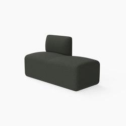 Caterpillar, Bench with single backrest | Benches | Derlot