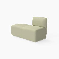Caterpillar, Bench with single backrest | Panche | Derlot Editions