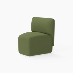 Caterpillar, 30˚ Seat with outside backrest | Modular seating elements | Derlot