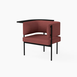 Crescent, Armchair with floating table | Armchairs | Derlot