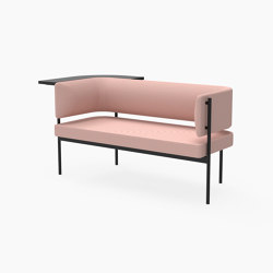 Crescent, Two seater sofa with floating table | Sitzbänke | Derlot Editions