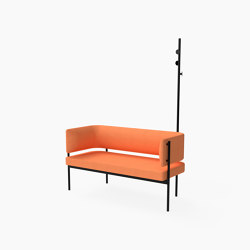 Crescent, Two seater sofa with coat stand | Benches | Derlot