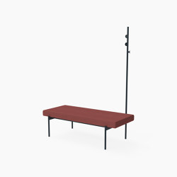 Crescent, Bench with coat stand | Panche | Derlot Editions