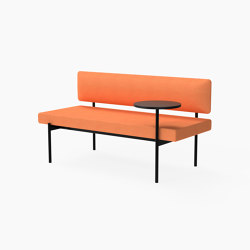 Crescent, Mid-back seat with floating table | Sitzbänke | Derlot Editions