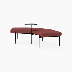 Crescent, 72˚ Curved bench with floating table | Sitzbänke | Derlot Editions