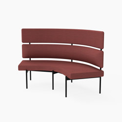 Crescent, 72˚ High-back curved bench | Bancos | Derlot Editions