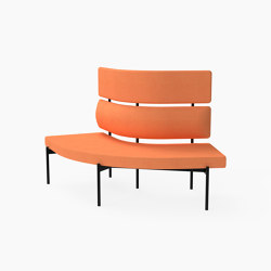 Crescent, 72˚ High-back curved bench | Panche | Derlot Editions