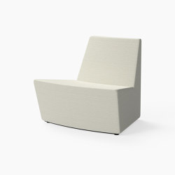 Guell, 30˚ Curved lounger seat | Modular seating elements | Derlot