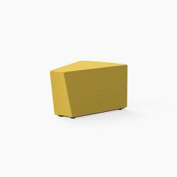 Guell, 30˚ Curved lounger ottoman | Pouf | Derlot Editions