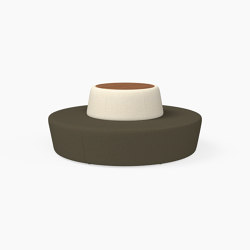 Pill, Seat with table inlay | Sitzinseln | Derlot Editions