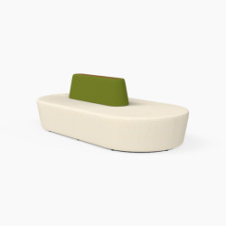 Pill, Seat with table inlay | Seating islands | Derlot Editions