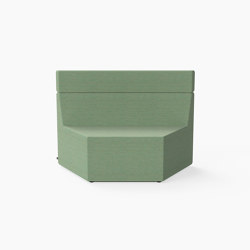 Prisma, Mid-back Seat C | Modular seating elements | Derlot