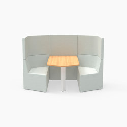 Prisma, 2 Person high-back workbooth | Cocoon furniture | Derlot Editions