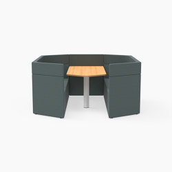 Prisma, 6 Person mid-back workbooth | Cocoon furniture | Derlot Editions