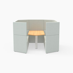 Prisma, 6 Person high-back workbooth | Cocoon furniture | Derlot Editions