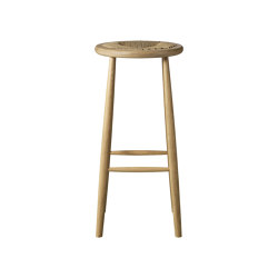 J164B Round Bar Chair by Jørgen Bækmark | Tabourets de bar | FDB Møbler