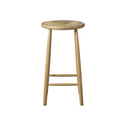 J165C Round Counter Chair by Jørgen Bækmark | Sgabelli bancone | FDB Møbler