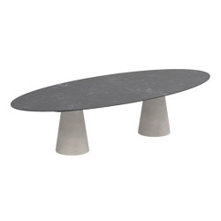 Conix oval table | Tavoli pranzo | Royal Botania