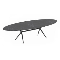 Exes oval table | Tavoli pranzo | Royal Botania