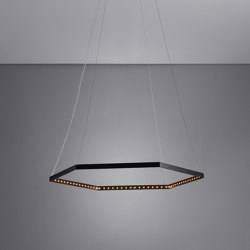 HEXA 1 Black | Suspended lights | Le deun