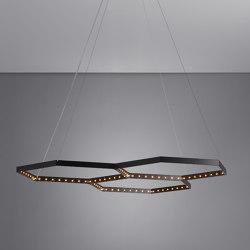HEXA 3 Black | Suspended lights | Le deun
