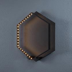 HEXA WALL Black | Lampade parete | Le deun