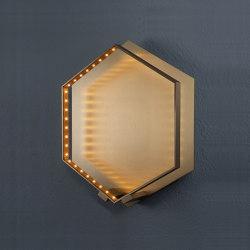 HEXA WALL Brushed brass | Wall lights | Le deun