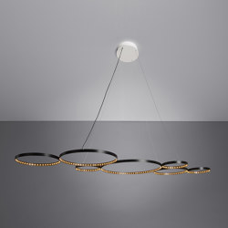 ULTRA 8 Black | Suspended lights | Le deun