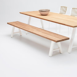 Matteo bench white base | Bancos | Vincent Sheppard