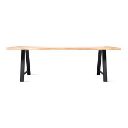 Nora dining table live edge black base | Dining tables | Vincent Sheppard