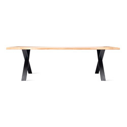 Nora dining table live edge black base | Mesas comedor | Vincent Sheppard